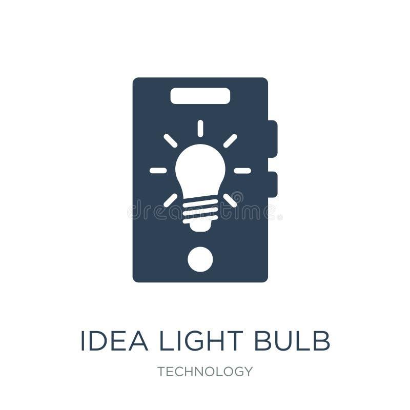 idea light bulb icon in trendy design style. idea light bulb icon isolated on white background. idea light bulb vector icon simple royalty free illustration