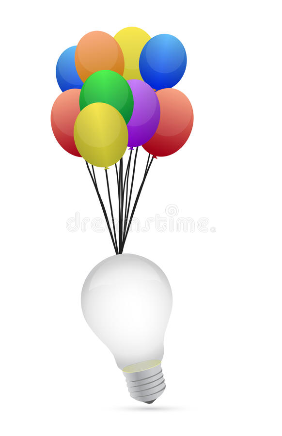 Download Idea Lightbulb And Colorful Bubbles Stock Illustration - Image: 27344896