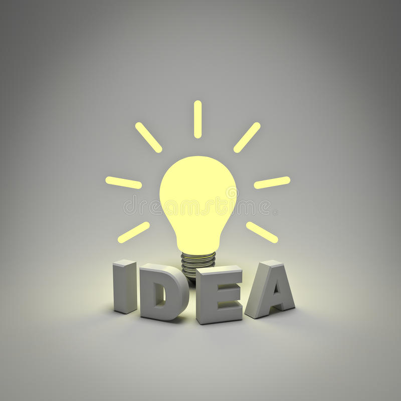 Download Idea lightbulb concept stock illustration. Image of creativity - 23870444