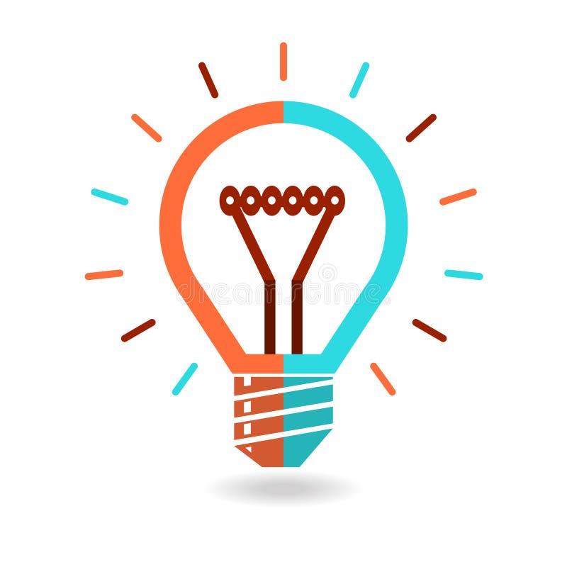 Idea lightbulb royalty free illustration