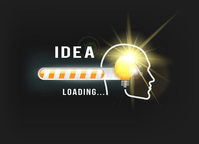 IDEA loading.. stock illustration