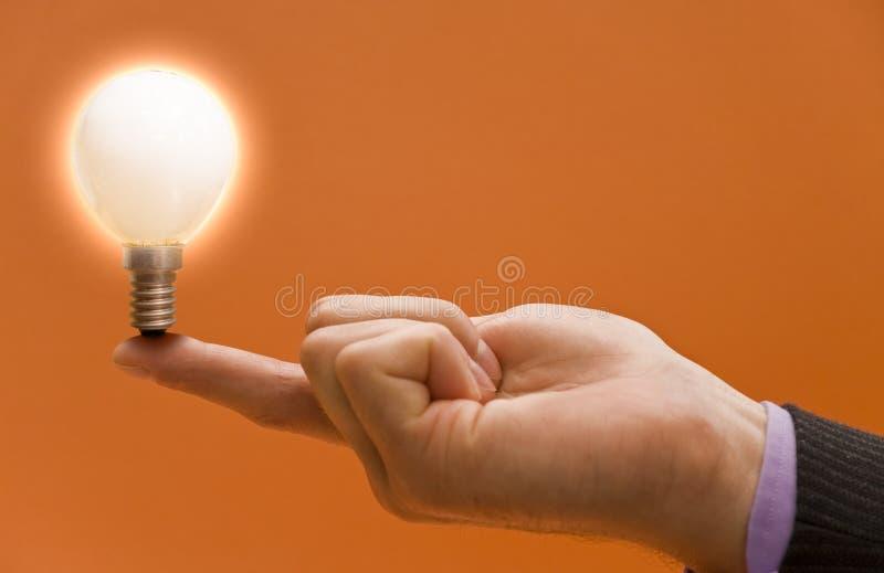 Idea luminosa fotografie stock