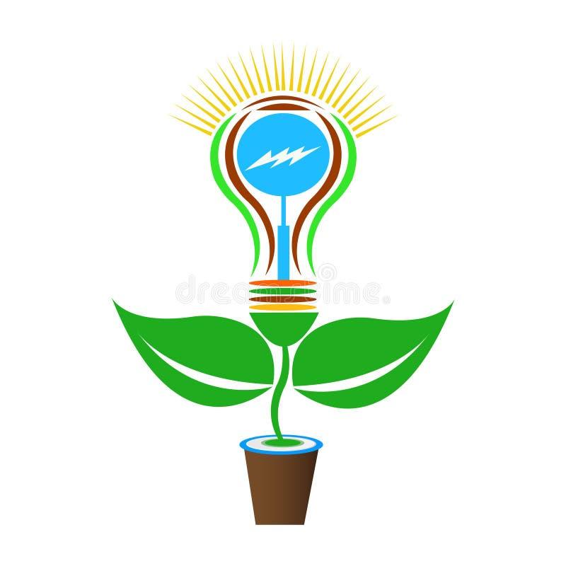 Idea luminosa con la lampadina illustrazione di stock