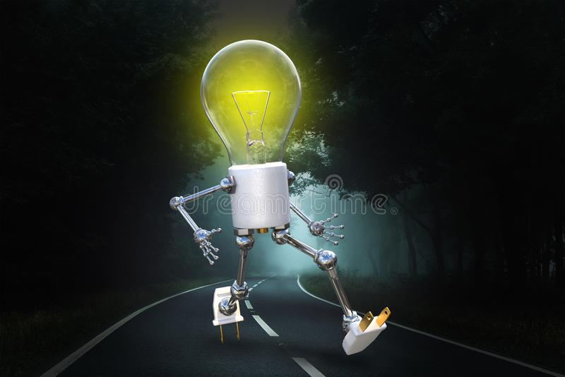 Idea luminosa, innovazione, scopi, successo, lampadina illustrazione di stock
