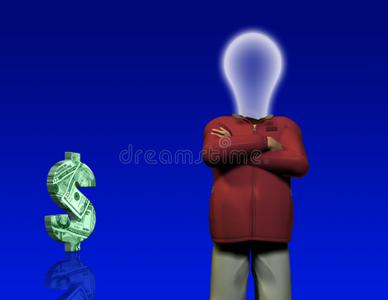 Download Idea Man And $ Royalty Free Stock Photography - Image: 2310147