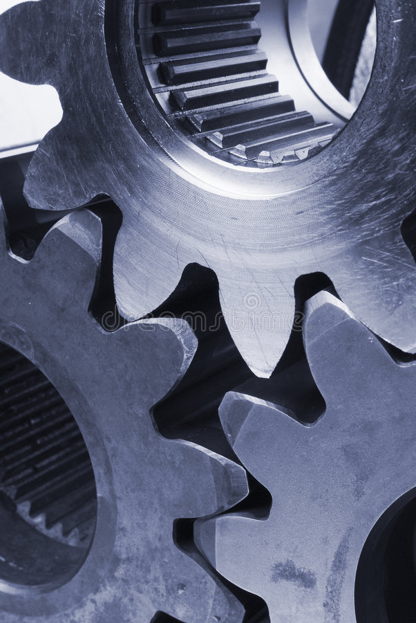 Idea mecánica en azul imagen de archivo libre de regalías