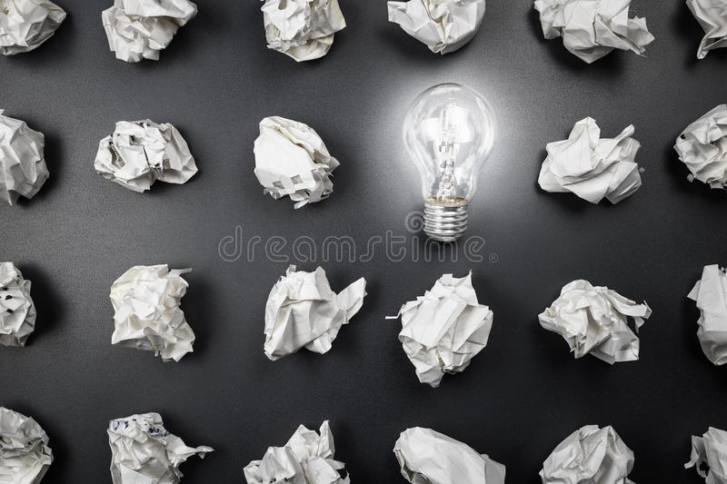 Idea From Mistake stock image