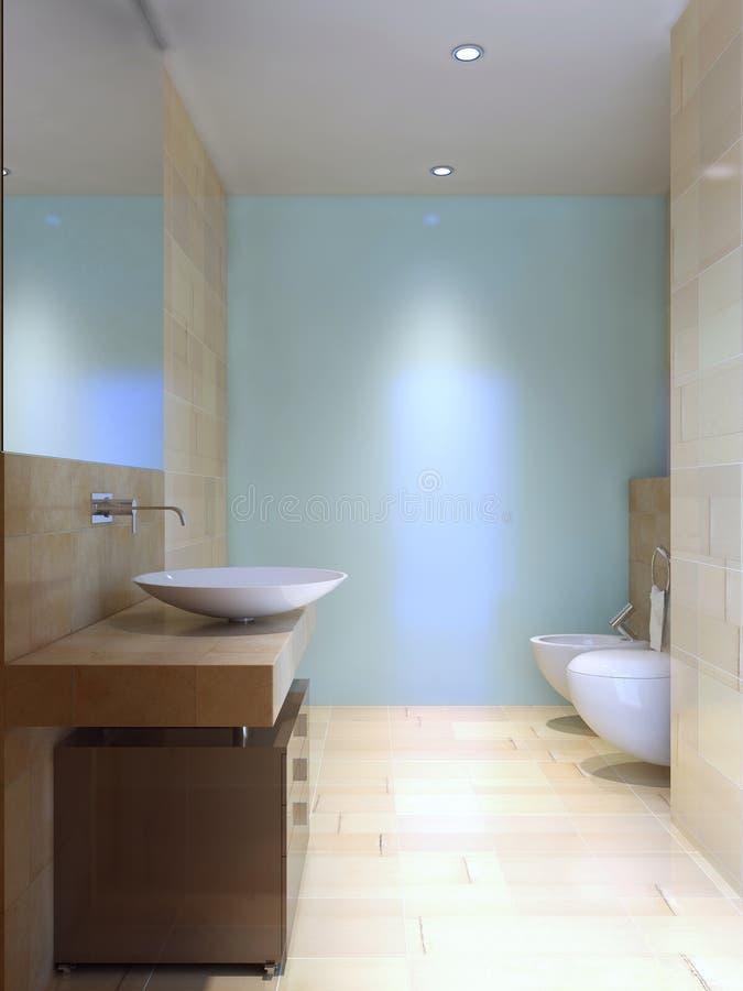 Idea moderna del wc ilustración del vector