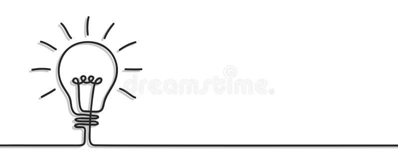 Idea, muestra creativa del bulbo del concepto, fondo de las innovaciones - vector stock de ilustración
