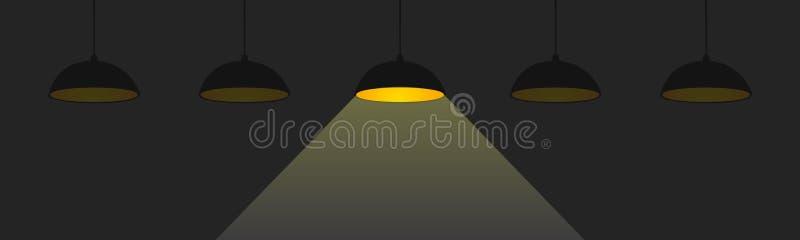 Idea, muestra creativa del bulbo del concepto, innovaciones - vector stock de ilustración