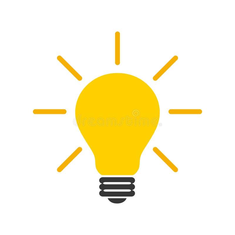 Idea, muestra creativa del bulbo del concepto, innovaciones - vector libre illustration