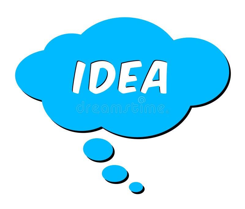 Idea nella bolla di pensiero illustrazione vettoriale