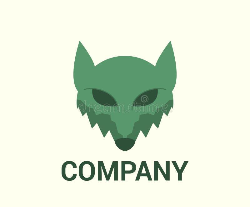 Idea principal del lobo stock de ilustración