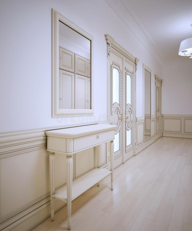 Download Idea Of Provence Hallway Stock Illustration. Illustration Of Floor    61235490