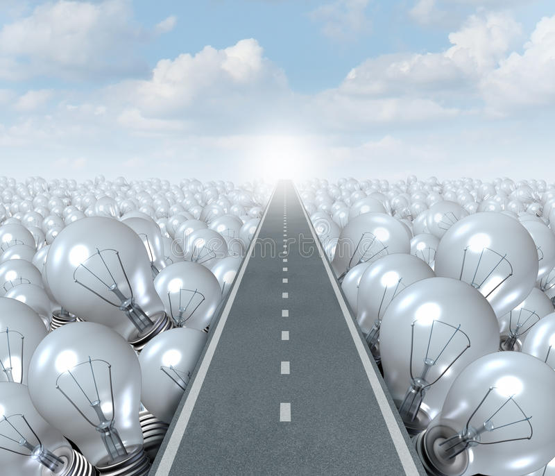 Idea Road vector illustration