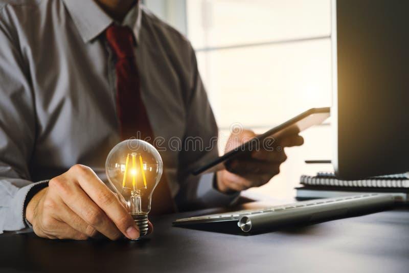 Idea saving energy and accounting finance concept Digital marketing stock image