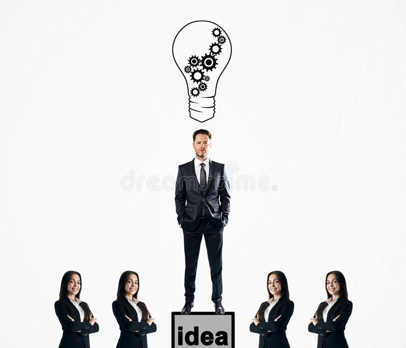 Idea and success concept stock photography