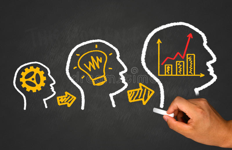 Idea, teamwork and business concept royalty free stock images