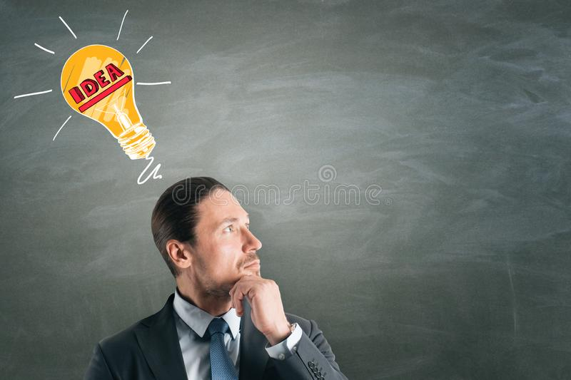 Idea and think concept royalty free stock image