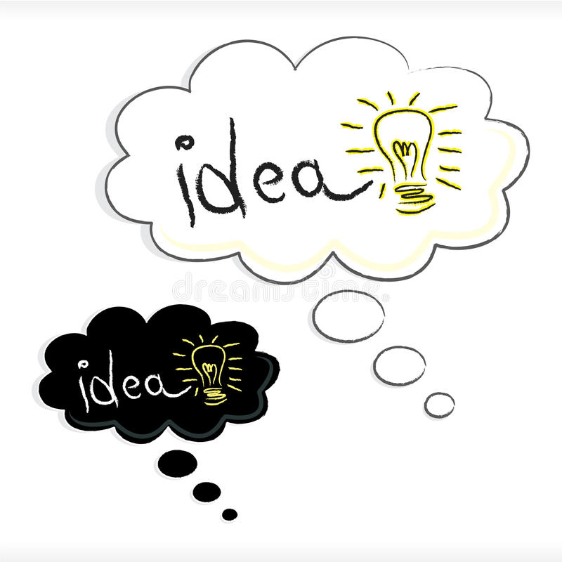 Idea in thought bubble vector illustration