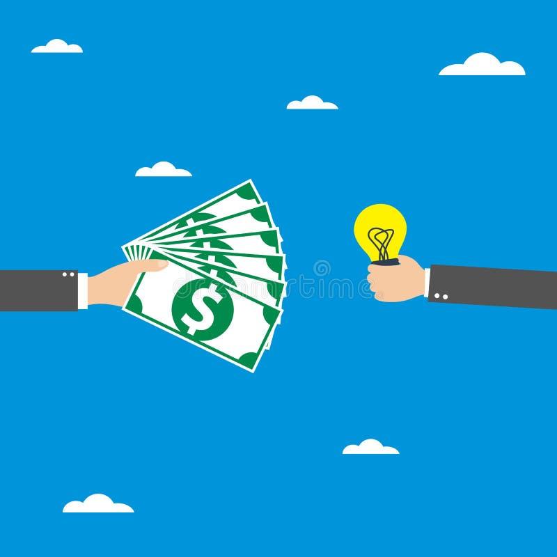 Idea to money, vector royalty free illustration