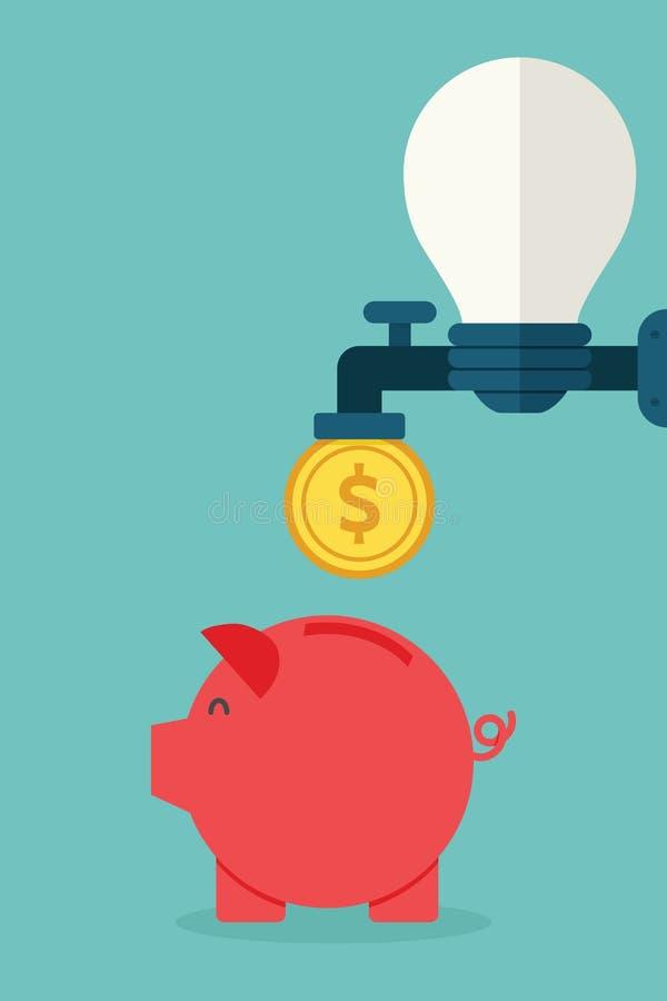 Idea to money stock illustration