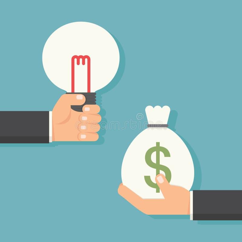 Idea to money stock photography