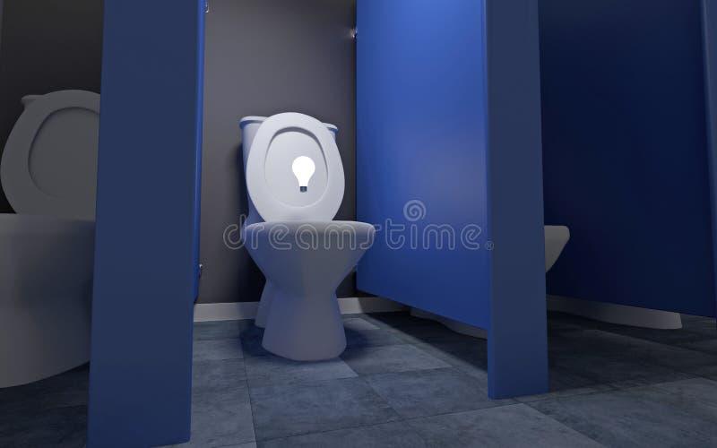 Idea In The Toilet Royalty Free Stock Photos