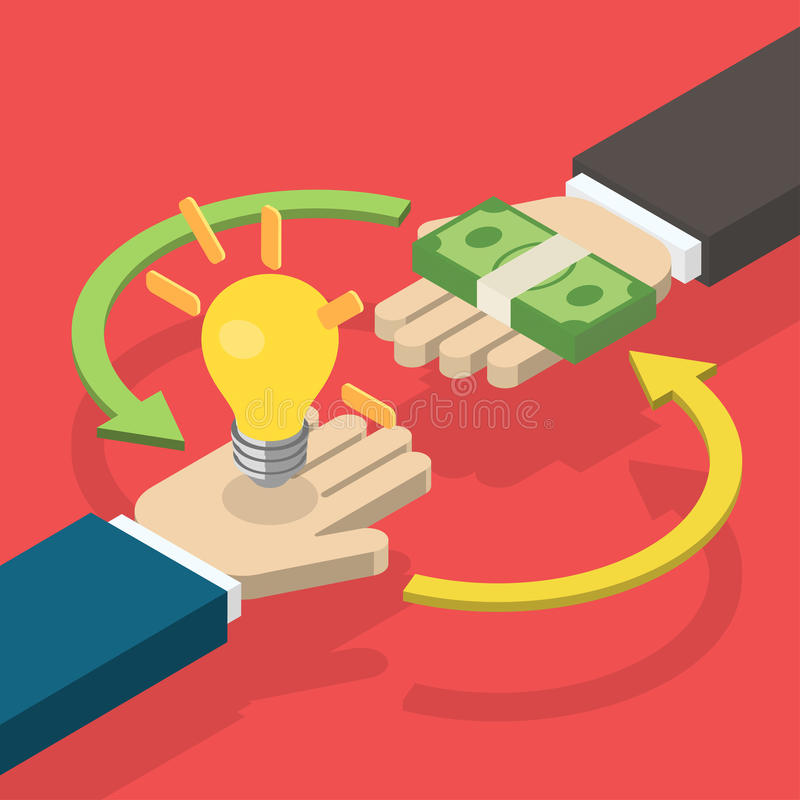 Idea trading for money concept. royalty free illustration