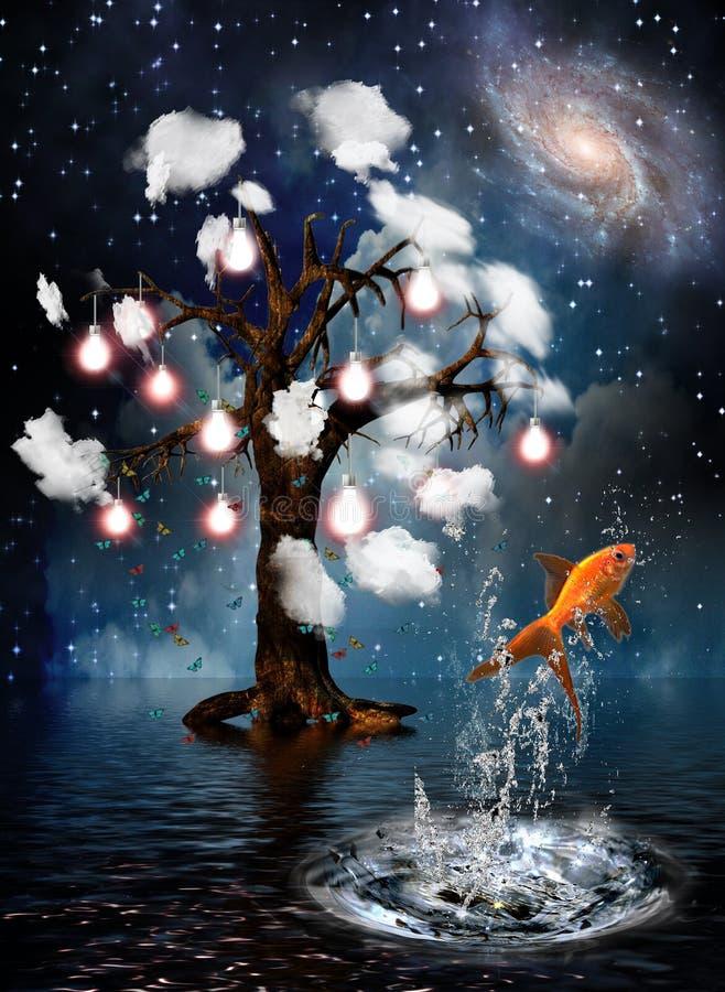 Download Idea Tree stock illustration. Image of fish, jump, future - 15123784