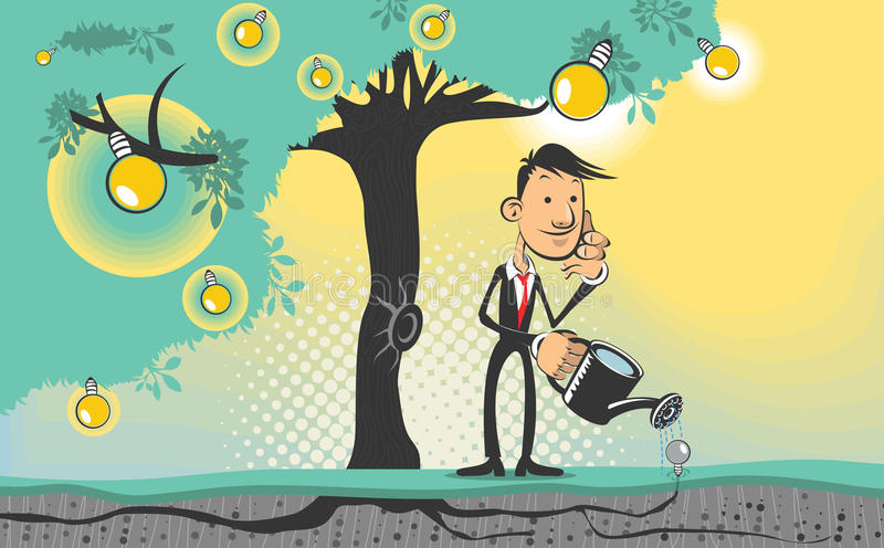 Idea Tree. An illustration of idea tree. Useful as icon, illustration and background for business, marketing or sales promo