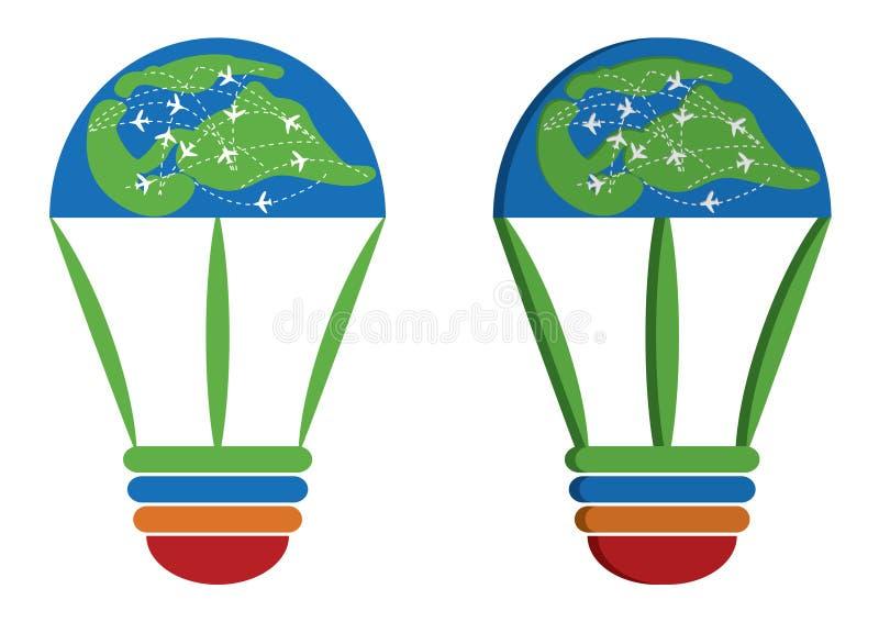 Idea World Travel Logo royalty free stock image