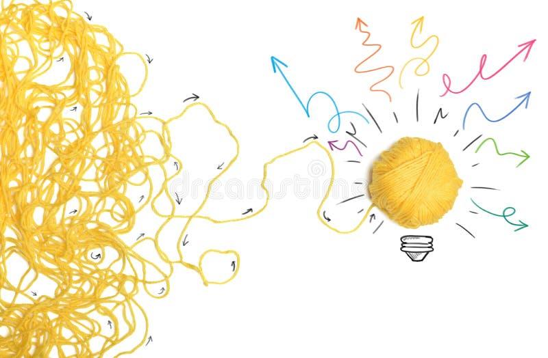 Idea y concepto de la innovación imagen de archivo
