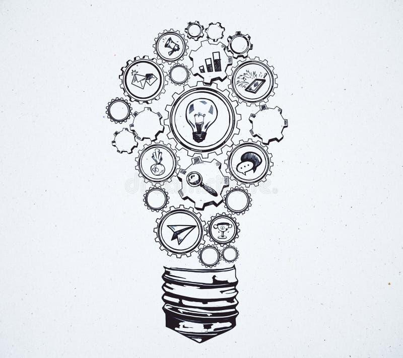 Idea y concepto del taller ilustración del vector