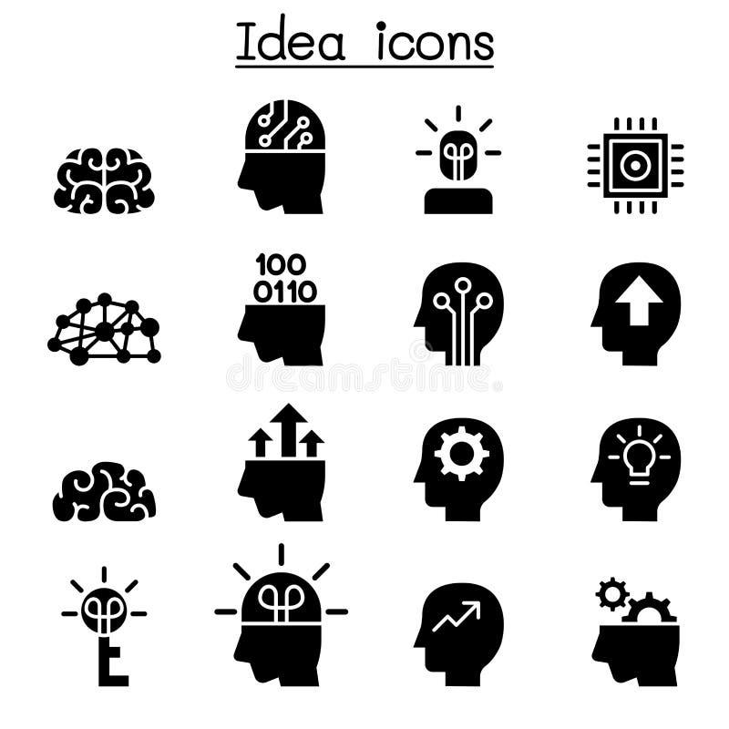 Idea y sistema creativo del icono stock de ilustración