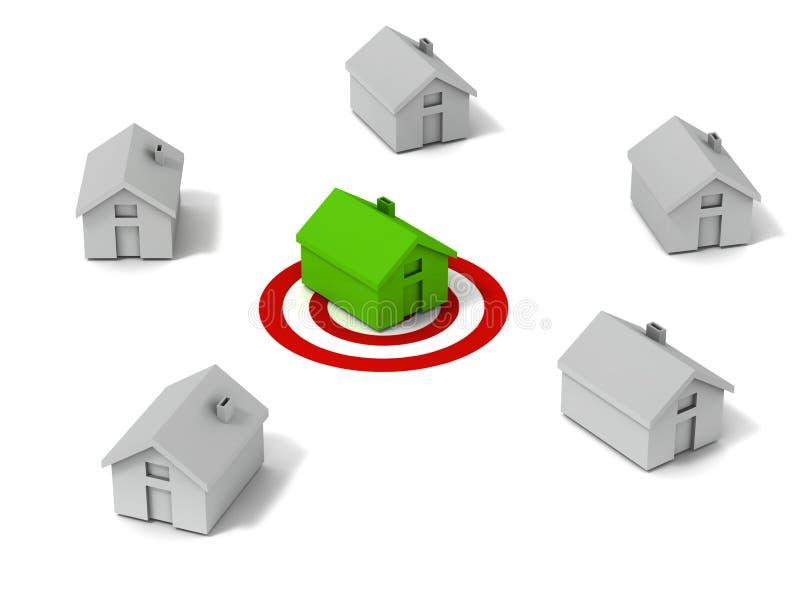 Ideaal huis vector illustratie