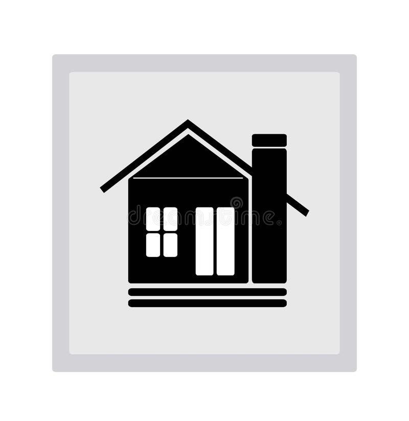 Ideaal Huispictogram vector illustratie