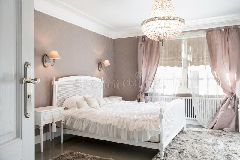Ideal bedroom for woman stock photo image of bedclothes for Modele chambre a coucher maroc