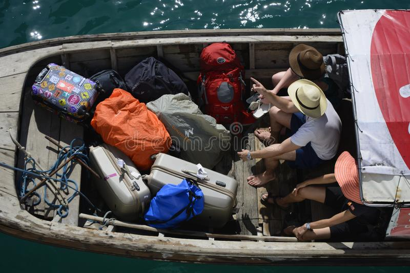A long tail boat journey can be enjoyed on the vacation to the islands of Thailand . Ideal destination for vacation or holiday with family and friends can be royalty free stock image