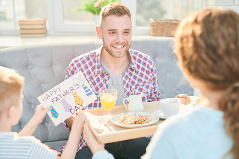 Ideal Morning of Fathers Day royalty free stock photography