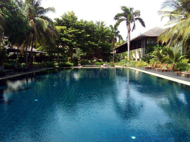 Ideal pool at Kanchanaburi royalty free stock photo