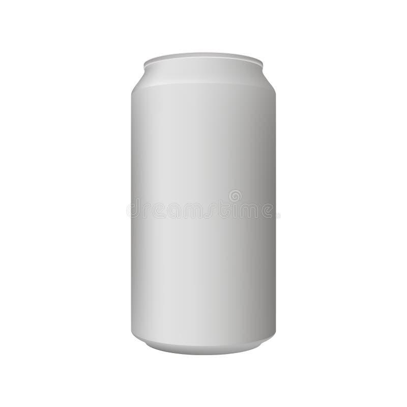 Ideal realístico do molde de alumínio da placa do produto para a cerveja, cerveja pilsen, álcool, refrescos, soda, PNF efervescen ilustração do vetor