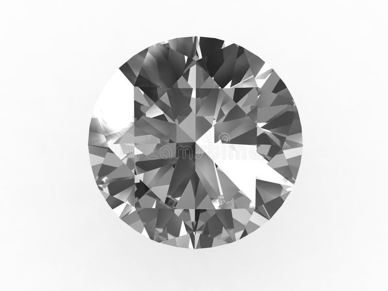 ideal rund sten för diamant royaltyfri illustrationer
