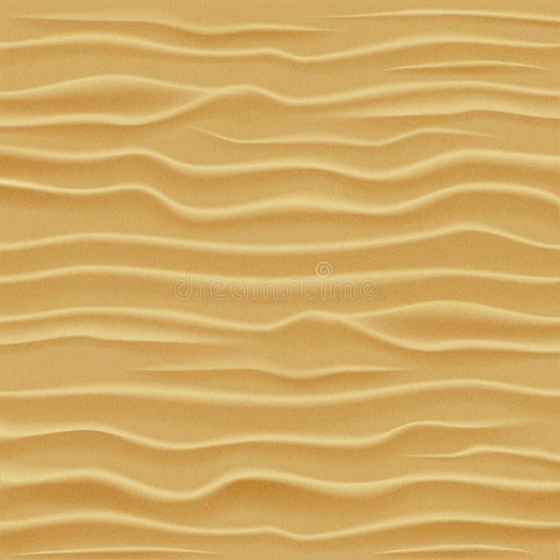 ideal sandtextur för bakgrunder Ökensanddyn stock illustrationer
