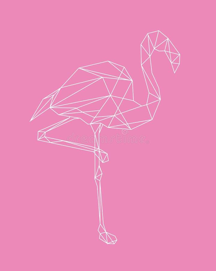 Flamingo line abstraction. Vector illustration. vector illustration