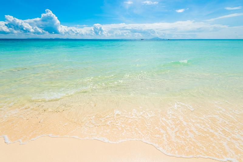 an idealistic lagoon, a very beautiful place in Thailand stock photography