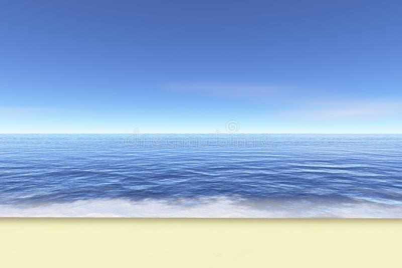 idealne na plaży ilustracja wektor