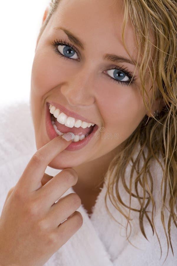 idealne zęby obraz royalty free