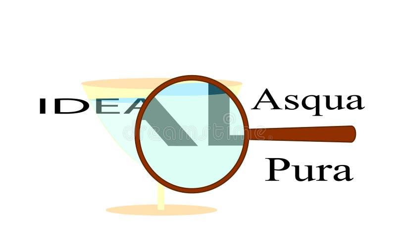 Idealny Acqua Pura fotografia stock