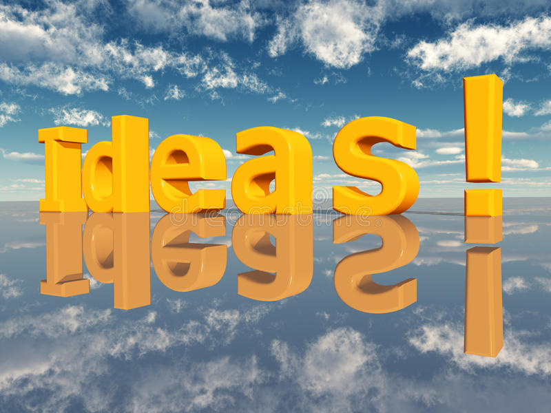 Download Ideas stock illustration. Illustration of symbol, blue - 27864819